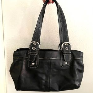Coach Soho Leather pleated Carryall tote